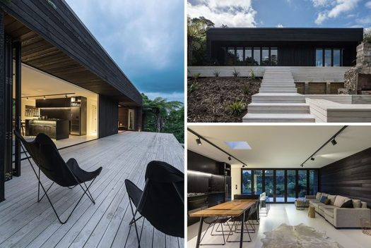 Evelyn McNamara Architecture have designed this 818 square foot (76sqm) holiday house as a spec house that can be easily replicated on any site in New Zealand (subject to local rules).