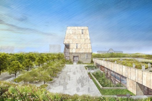 View of the Obama Presidential Center plaza. Image Courtesy of Obama Foundation