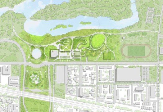 Conceptual Site Plan. Image Courtesy of Obama Foundation