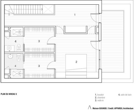 3rd Level Floor Plan