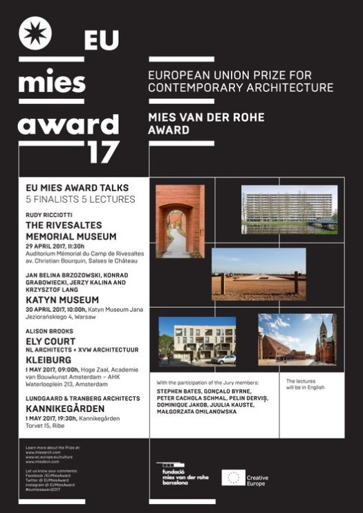 MIES TALKS – Finalist Lectures Series of the EU Mies Award 2017
